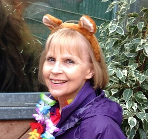 Picture of Jeanette in her bear ears