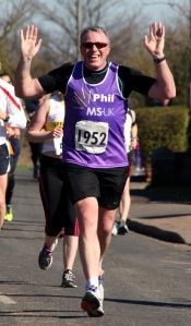 Picture of a MS-UK runner at Colchester Half Marathon