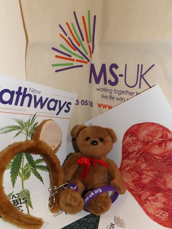 Picture of a MS-UK goody bag prize