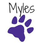Myles signature - shadows into light font on Canvas