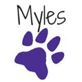Myles signature - shadows into light font on Canvas
