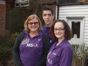 The MS-UK Helpline Team, Kim, Ryan and Laura